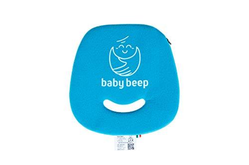 Baby Beep Bbam1 Cuscino Bluetooth Anti Abbandono Universale per Seggiolini Auto, Blu (Azzurro Mare)