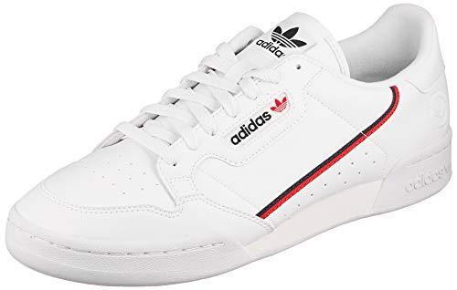 adidas Continental 80 Vegan, Sneaker Hombre, Footwear White/Collegiate Navy/Scarlet, 43 1/3 EU