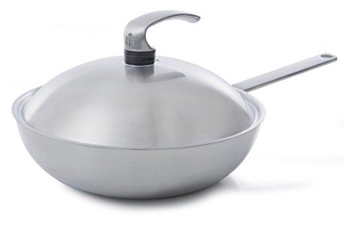 BK Cookware bv BK Chinese steelwok Triply 30 met deksel, aluminium, zilver, 30 cm