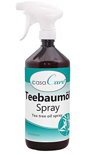 cdVet Naturprodukte casaCare Teebaumöl Spray 1 Liter - Duftölspray - angenehmer + frischer Duft - Reinigung der Atemluft - Verbesserung Raumklima - ätherische Öle - Wohlbefinden - natürlich -