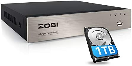 ZOSI H 265 8 Channel 5MP Lite CCTV DVR with Hard Drive 1TB 8CH 1080P 4 in 1 Analog AHD TVI CVI product image