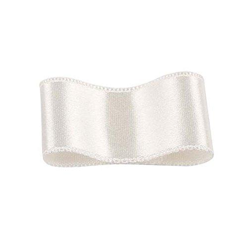 リボンボン シルクシングルサテンリボン #039 シーシェルホワイト(キナリ) 9mm幅 巻(30m) 9サイズ50色展開
