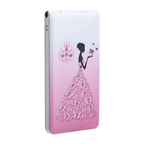 Flip Unlocked Phone, 2.4 inch Screen Flip Phone Dual SIM Card, 32MB+32MB, 1800mAh, Large Volume, Ultra Slim Flip Cellphone for Elderly and Kids(Pink)