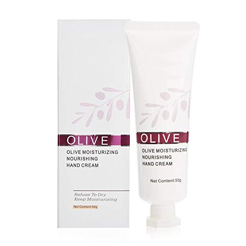 Crema de manos Hidratante Blanqueamiento Cuidado de la piel Exfoliante corporal Reparación Cuidado de manos Loción 50g(verde oliva)