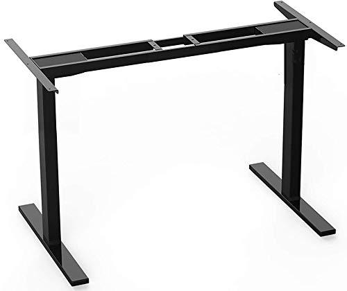 Preisvergleich Produktbild DCHOUSE Höhenverstellbarer Schreibtisch Elektrisch Höhenverstellbarer Tischgestell Stufenlos Ergonomischer Computertisch in Schwarz,  3-Fach-Teleskop,  mit Memory Funktion