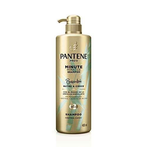 Pantene Shampoo Pro-V Minute Miracle Bambú Nutre & Crece 480 Ml, Color, 480...