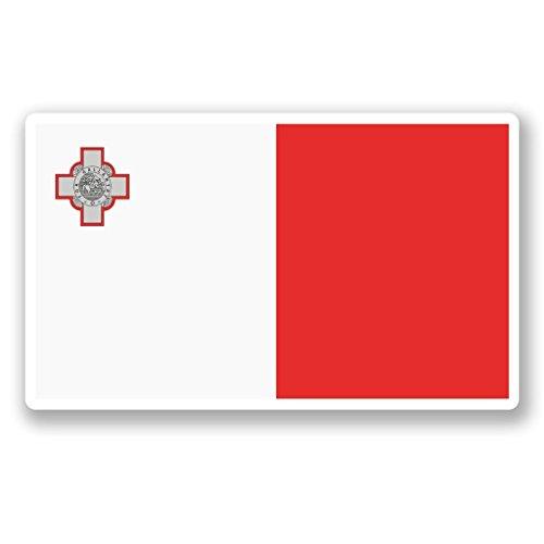 2 x 10cm/100mm Malta Flag Vinyl Sticker Decal Laptop Travel Luggage Car Bike Sign Fun #5297