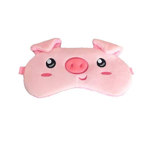 dressfan 3D Animal Mignon Masque pour Les Yeux Masque pour Les Yeux Dessin Animé Masque pour Les Yeux Enfant Femme Homme, taille unique, rose