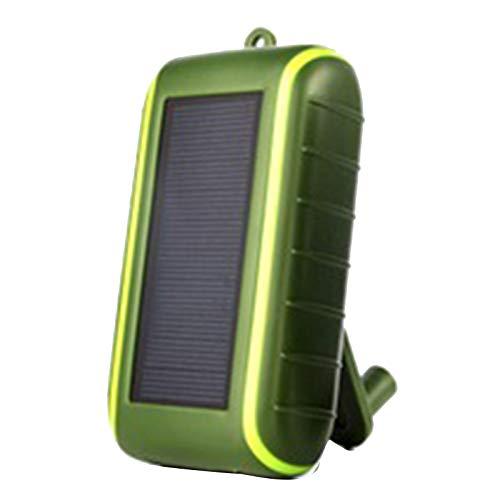 Facibom Multifuncional Energía Solar Power Bank 8000MAh Manivela Dinamo Alimentado al aire libre Solar Cargador