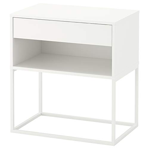 Mesita de noche IKEA VIKHAMMER 60x39x65 cm blanco