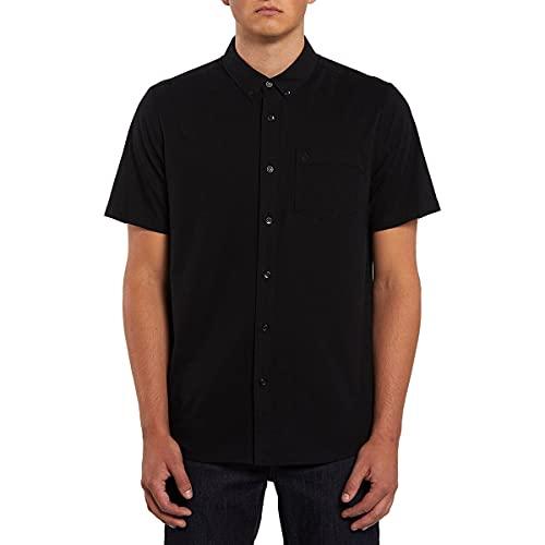 Volcom Men's Everett Oxford Short Sleeve Shirt New black XL