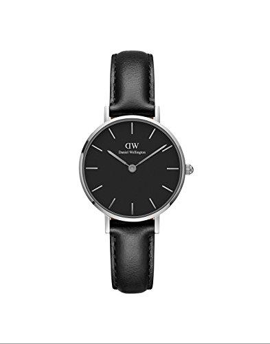Daniel Wellington Petite Sheffield Silver Watch, 28mm, Leather, for Men and Women