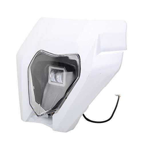 JFG Racing Motorrad-Scheinwerfer, LED-Universal-Scheinwerfer-Verkleidung, Licht, Scheinwerfer für KTM EXC250, SX250, SXF250, EXC450, SX350, SXF450, EXC525, Dirtbike, Motocross, Enduro, Supermoto, Weiß