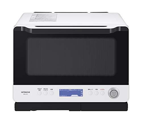 日立 ボイラー熱風式過熱水蒸気 オーブンレンジ ヘルシーシェフ 大容量30L 300℃熱風2段オーブン Wスキャン調理 クックパッド30レシピ MRO-W1X W フロストホワイト