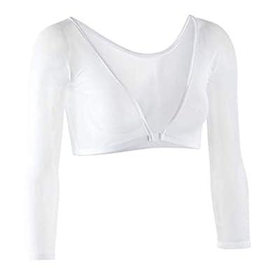 Sleevey Wonders Women's Basic 3/4 Length Slip-on Mesh Sleeves 2X White by Sleevey Wonders