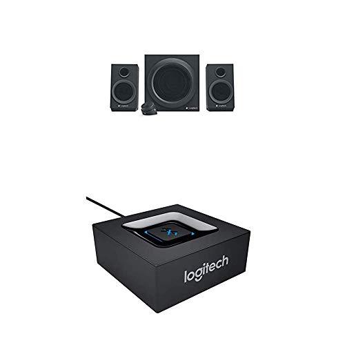 Logitech Z333 Sistema de Altavoces con Subwoofer, 80W de Pico, Graves Potentes y Receptor de Audio Inalámbrico, Adaptador Bluetooth, Salidas 3.5 mm y RCA, PC, PS4, Xbox, TV, Smartphone o Tablet