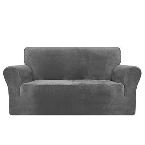 MAXIJIN - Fundas gruesas de terciopelo para sofá de 3 plazas, muy elásticas, antideslizantes, para perros, gatos y otras mascotas - 1 protector elástico para muebles
