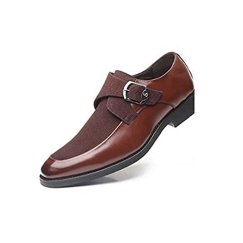 Gamssdlls Nsnjx - Zapatos de vestir para hombre, zapatos de vestir de piel de patente, para novios, zapatos Oxford para hombre, talla grande (color: marrón, tamaño: 10)