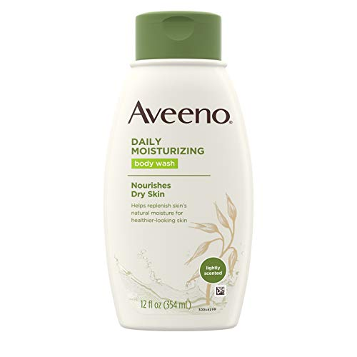 Aveeno Daily Moisturizing Body Wash with Soothing Oat, Creamy Shower Gel, Soap-Free and Dye-Free, Light Fragrance, 12 fl. oz (Pack of 3)
