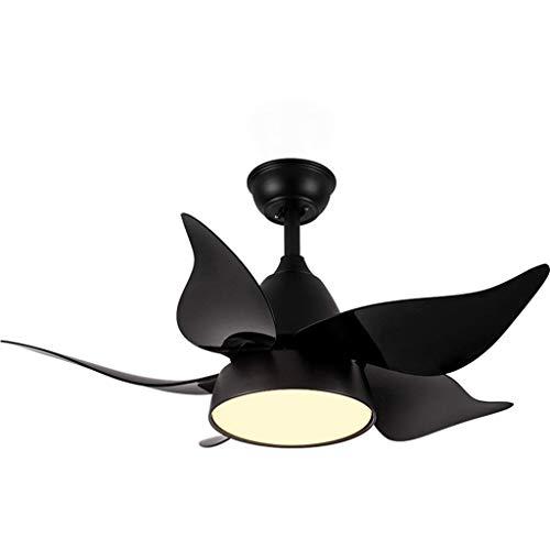 YANGQING Lámpara de araña con lámpara de araña para dormitorio infantil, moderna minimalista creativa, telescópica de 3 hojas [Clase energética A +] (color: D), color: A (color: A)