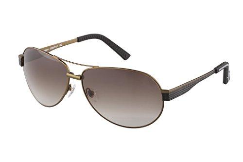 Klassische Marken Sonnenbrille für Herren von Burgmeister mit 100% UV Schutz | Sonnenbrille mit stabiler Metallfassung, hochwertigem Brillenetui, Brillenbeutel und 2 Jahren Garantie | SBM201-142