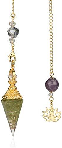 pendulum crystal stone quartz healing stones 7 chakra jewelry for women men-Olivine stone