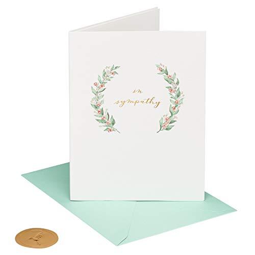 Papyrus Sympathy Card (Elegant Greenery)