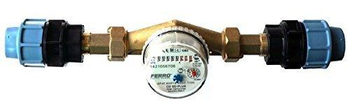 BFG 4m3/h caudalímetro para agua fría con roscas de conexión 3/4