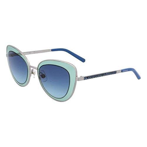 Swarovski SK0144-5114W Gafas, SHINY LIGHT RUTHENIUM/GRADIENT BLUE, 51/23/135 para Mujer