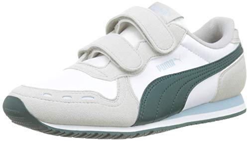 Puma Cabana Racer SL V PS, Unisex-Kinder Sneakers, Weiß (Puma White-Gray Violet-Ponderosa Pine), 33 EU (1 UK)