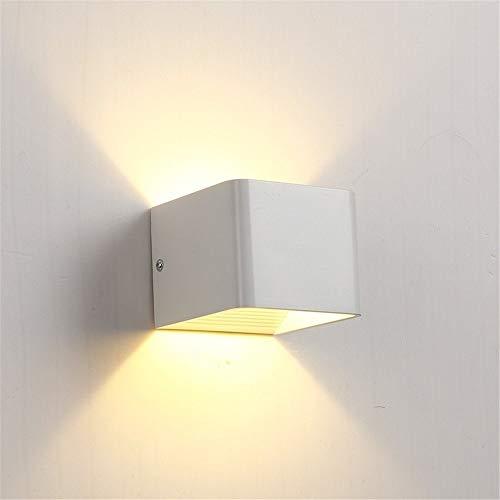 Binnenwandlamp, 12 V 6 W LED aluminium wandlamp buiten waterdicht IP65 moderne Nordic stijl binnenwandlamp woonkamer veranda tuinlamp, zwart, warmwit 3000K