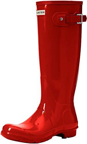 Hunter tall Gloss W23616 - Botas altas para mujer, Rojo, 38 EU