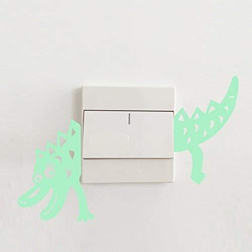 Fillplus Stickers muraux Lumineux Dinosaures Décoration de Maison, PVC, Multicolore, 17 x 10 x 0.03 cm