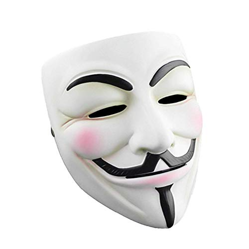 Halloween Masks V for Vendetta Mask, Hacker Masks Anonymous Mask for 2018 Halloween Costume