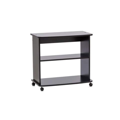 Relax e Design Mobile Carrello Nero H.71 L.75 P.40, Porta TV, Stampante, Hi-Fi, Playstation