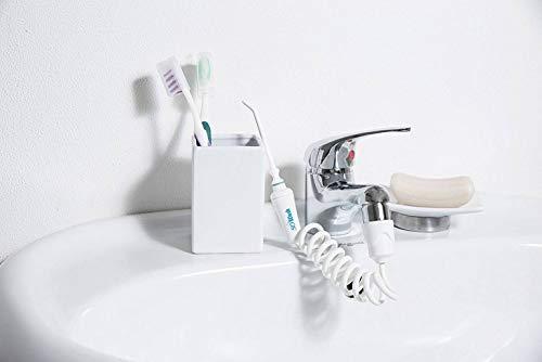 Idropulsore Dentale SoWash | Idrogetto | Si Collega al Rubinetto | Senza Batterie e Elettricità | Testina con Getto Singolo Lineare | Made in Italy