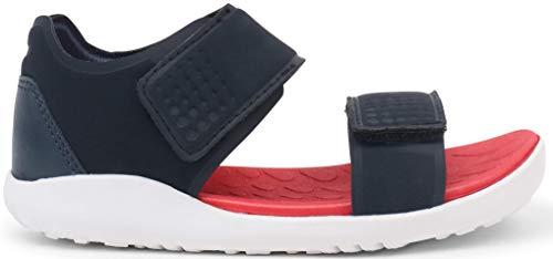 Bobux I-Walk Scuba Open Sandal_Caminantes – Sandali da Spiaggia per Bambini Due Chiusure Blu Size: 23 EU
