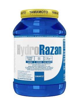 Yamamoto Nutrition Hydro RAZAN new formula integratore alimentare a base di proteine del siero del latte idrolizzate Optipep 90 con aggiunta di probiotici ed enzimi digestivi gusto Vaniglia 2000 g