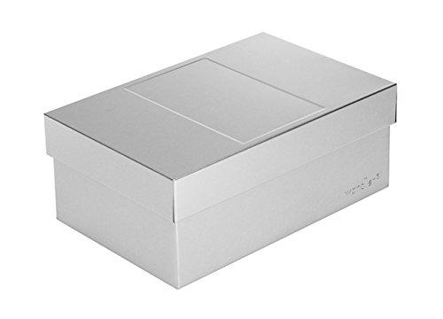 Wandler by Infinity Boxes Metallbox + Deckel, Aufbewahrungsbox, klein, Silber, lebensmittelecht, stapelbar, rechteckig, L18xB12xH7 cm
