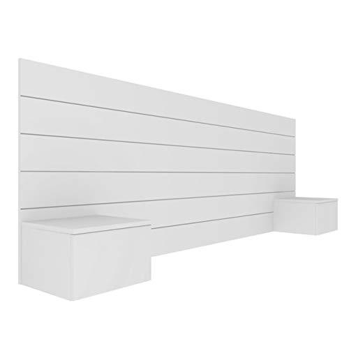Tête de lit avec chevets Friz Blanc 160 cm