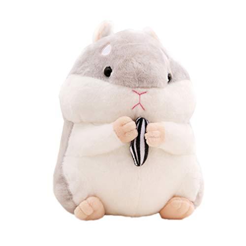 NUOBESTY Hamster Toy Plush Imitando Hámster Muñeco de Peluche Regalo de Cumpleaños para Niños Gris