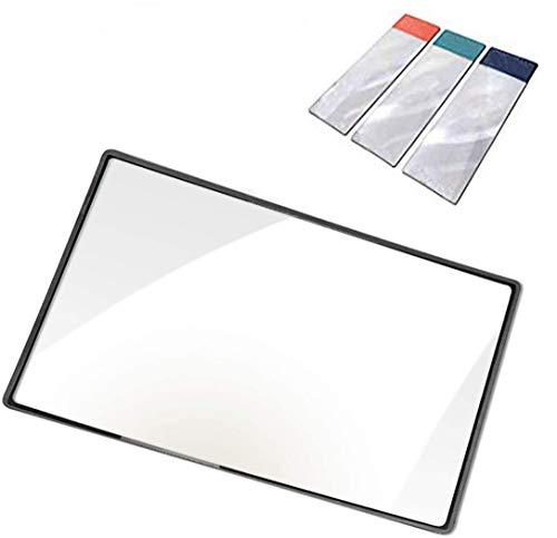 Lupa de 3 aumentos (300%) con 3 lupas de marcador para leer pequeñas impresiones, ayuda de baja visión y proyectos solares