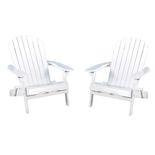 Great Deal Furniture Molly Milan Outdoor Folding Wood Adirondack Chair (Set  Of 2)