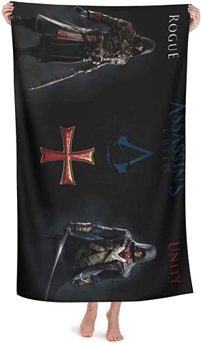 Toallas de playa Anime para niños, toallas de aventura de Assassin's Creed, diseño elegante, ideal para vacaciones en la playa (salasin1, 70 cm x 140 cm)