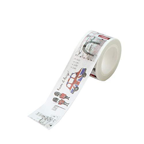 Hacoly Cinta adhesiva decorativa de papel con diseño de Londres