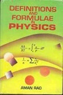 Definitions and Formulas in Physics