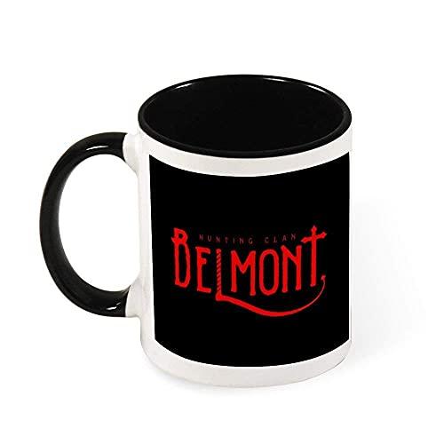 N\A Castlevania Belmont Hunting Clan Taza de café de cerámica roja Taza de té, Regalo para Mujeres, niñas, Esposa, mamá, Abuela, 11 oz