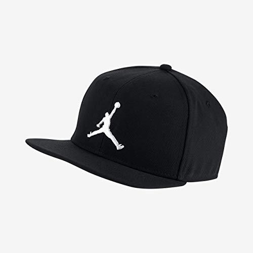 Nike Jordan Pro Jumpman Snapback Gorra, Unisex Adulto, Negro (Black/White), Talla Única