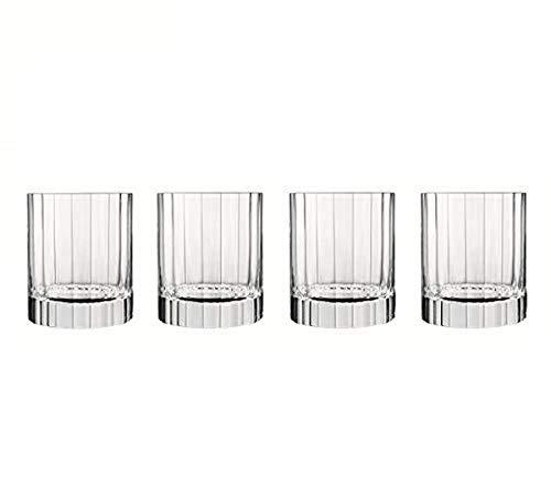 Bormioli Luigi 7540471 Luigi Bormioli Bach-Set di 6 Bicchieri Bassi, in Cristallo Trasparente, 8,25 x 8,25 x 9,7 cm, 8,25x8,25x9,7 cm, 4 unità