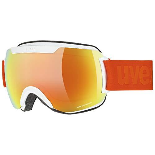 uvex Unisex– Erwachsene, downhill 2000 CV Skibrille, white mat, one size